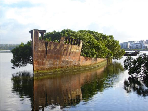 Barco de hace 100 años. Sidney, Australia. Foto: Andy Brii.