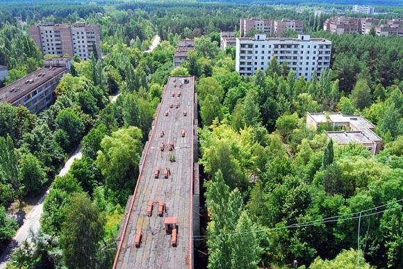 Pripyat, Ciudad radioactíva abandonada despues de la catástrofe de Chernóbil, en Ucrania. Foto tomada de Castle Maine Independent.