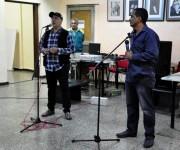 Adán Iglesias director del Dedeté y Jape Maestros de ceremonias. Foto: Roberto Garaicoa/Cubadebate.