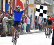 El tunero Jans Carlos Arias se llevó su segunda etapa en el Clásico. Foto. Ricardo López Hevia / Cubadebate