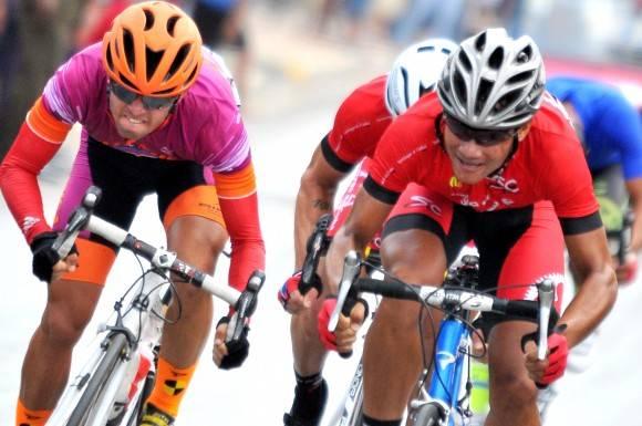 6ta etapa-Camaguey-Ciego ganada por el santiaguero Argenis Frómeta. Foto: Ricardo López Hevia