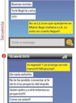 Parte de las conversaciones entre el Chapo y Kate del Castillo intervenida por la Inteligencia mexicana.