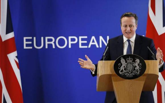 El primer ministro británico, David Cameron, anunció que en su país se realizará un referéndum sobre la continuidad en la UE. Foto: EFE.