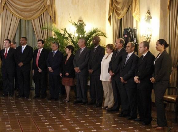 Delegación cubana presente en el acto. Foto. José Raúl COncepción/Cubadebate.