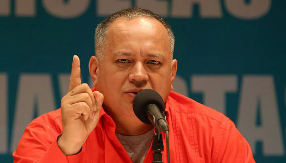 El diputado Diosdado Cabello dio a conocer las fases del plan derechista. Foto tomada de efectococuyo.com