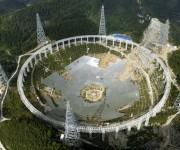 Este será el radiotelescopio más grande del mundo, con un área equivalente a 30 campos de futbol. Foto: Reuters