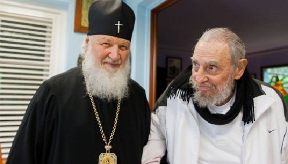 Fidel y Papa Kiril