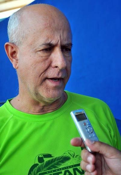 Héctor Ruiz, comisionado nacional de Ciclismo. Foto cortesía del autor.