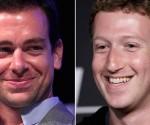 Jack Dorsey y Mark Zuckerberg. Foto tomada de cnbc.com.