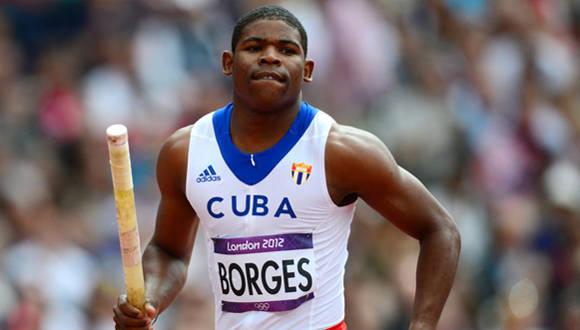 El pertiguista Lázaro Borges en los Juegos Olímpicos de Londres. Foto: AFP