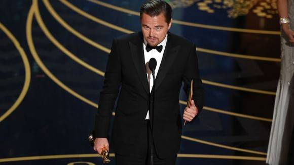 Leonardo DiCaprio, Mejor Actor por The Revenant.