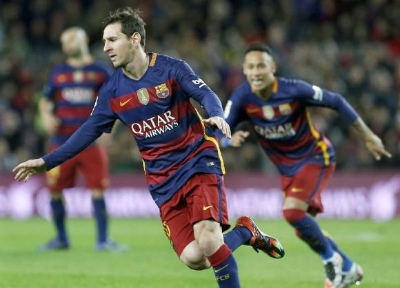 Messi celebra su gol ante el Celta. Foto: EFE