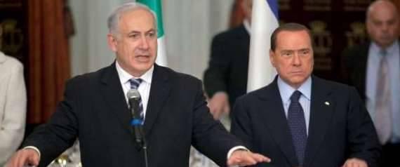 Netanyahu (izq) y Berlusconi (der) en una imagen de archivo.