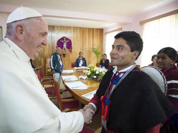 Papa Francisco en México. Foto tomada de TeleSur.