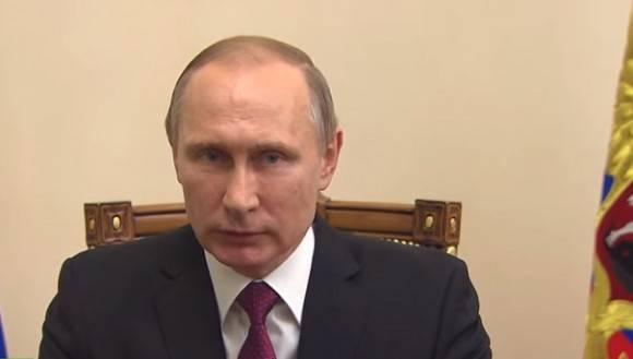 Vladimir Putin durante su mensaje a propósito del acuerdo sirio. (Toma de video).