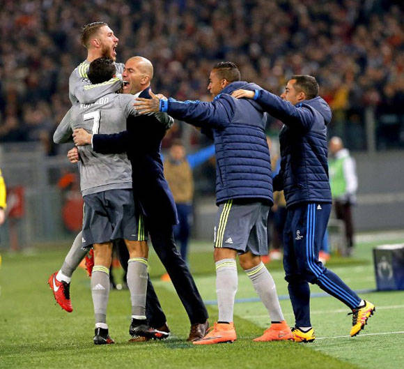 Cristiano le dedicó su gol a Zidane. Foto: Pablo García/Marca.