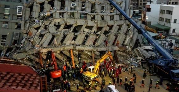 Terremoto en el sur de Taiwan. Foto: EFE.