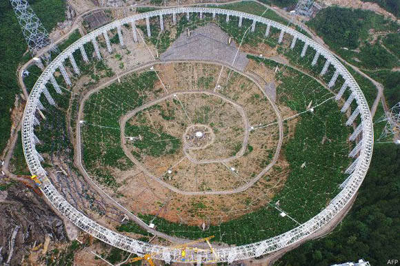 Tiene un diámetro de 500 metros. Foto: AFP.