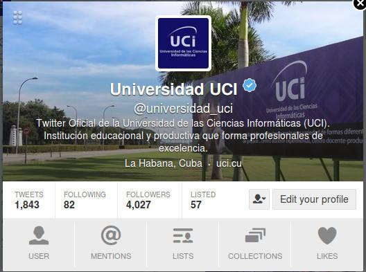 Captura de pantalla del perfil de la UCI en Twitter