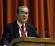 José Ramón Saborido, viceministro primero de Educación Superior en Cuba ofreció el discurso de clausura. Foto. José Raúl Concepción/Cubadebate.