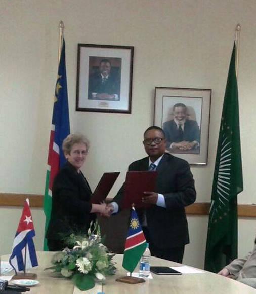 Vicepresidente de Namibia recibió a Ministra cubana