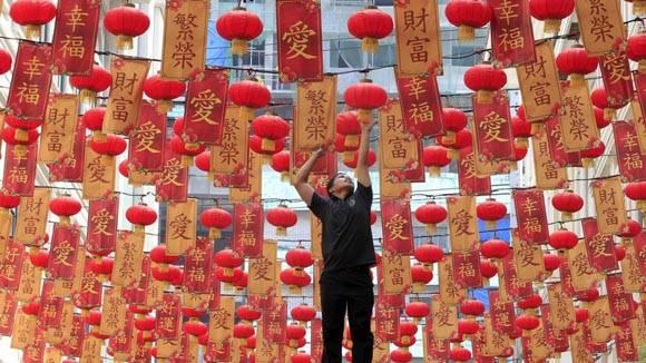 Celebración de año nuevo chino. Foto: Romeo Ranoco/Reuters.
