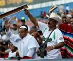Los aficionados mexicanos disfrutaron la merecida victoria de su equipo. Foto: EFE.