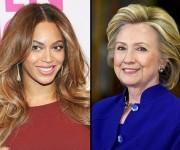 La conocida cantante Beyonce apoya a la demócrata, Hillary Clinton.