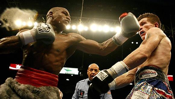Escena de un combate de boxeo profesional. Foto tomada de leofrausto.fullblog.com.ar.