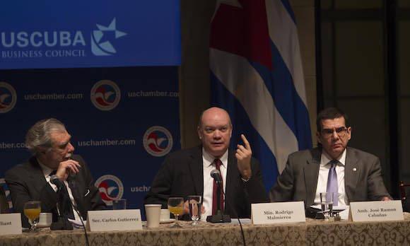 Malmierca se reúne en la Cámara de Comercio de Estados Unidos. Foto: Ismael Francisco/ Cubadebate