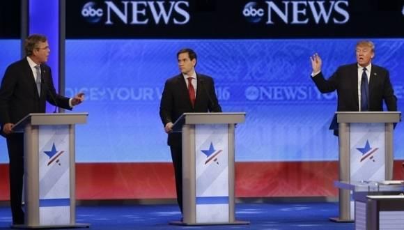 Debate entre los contrincantes republicanos. Foto: Agencias.
