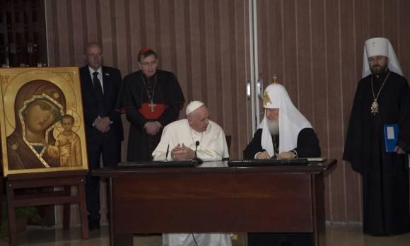 Declaración Conjunta del Papa Francisco y del Patriarca Kirill de Moscú y de Toda Rusia