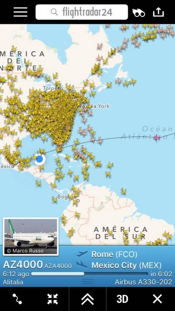 el vuelo del papa en el radar