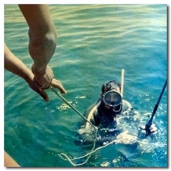 Pesca en Playa Girón durante el viaje con Donovan.