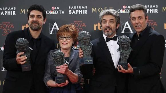 'Truman' de Cesc Gay, gana el Goya 2016 a la mejor película. Foto: RTVE
