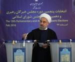 El presidente iraní, Hassan Rouhani, ejerce su derecho al voto en Irán. Foto: mehrnews.com/