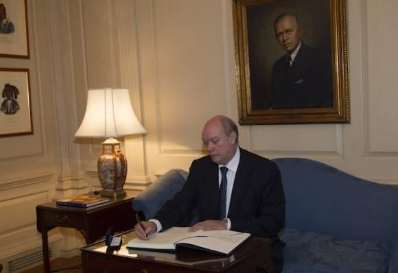 Encuentro de Kerry y Malmierca en el Departamento de Estado. Foto: Ismael Francisco/ Cubadebate