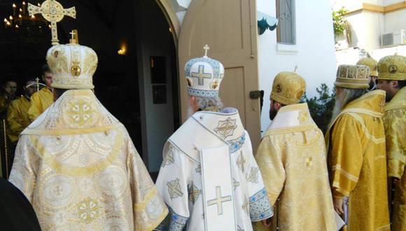 El Patriarca de la Iglesia Ortodoxa Rusa, Su Santidad Kirill, concluyó hoy su visita pastoral a Paraguay. Foto: ABC Color.