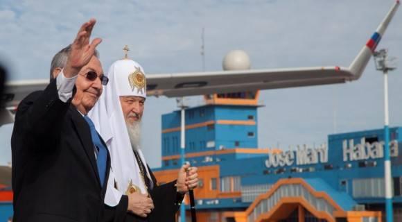 El General de Ejército Raúl Castro Ruz, Presidente de los Consejos de Estado y de Ministros recibió al patriarca de Moscú y de toda Rusia, Kirill en la tarde de este jueves. Foto: Ismael Francisco. / Cubadebate.