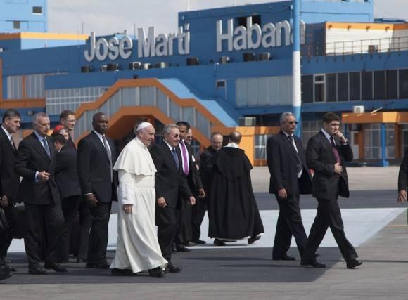 La llegada a La Habana de Francisco/ Foto: Ismael Francisco/ Cubadebate