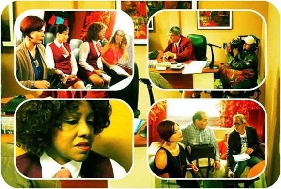 Escenas de la próxima telenovela cubana.