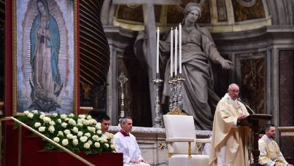 papa Francisco misa Guadalupe