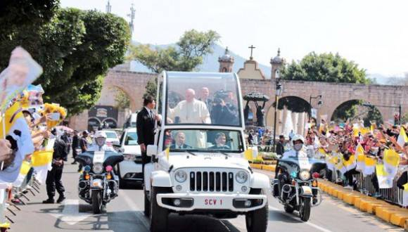 Por vez primera un Papa llega a Michoacán