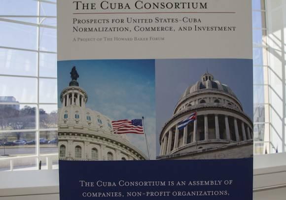 """En la primera conferencia del Consorcio Cuba """"Normalización, Comercio e Inversión"""", celebrada en Washington. Foto: Ismael Francisco/ Cubadebate"""