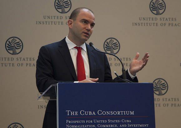 Rodrigo Malmierca en Washington, este jueves 18 de enero de 2016. Foto: Ismael Francisco/ Cubadebate