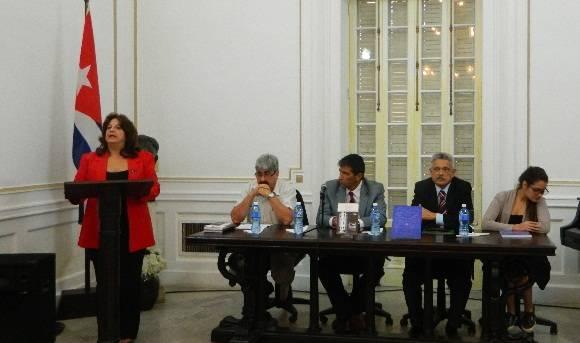 """Presentación de una nueva edición del libro: """"José Martí: consul de la Republica Oriental de Uruguay"""".Foto:Susana Tesoro/ Cubadebate."""