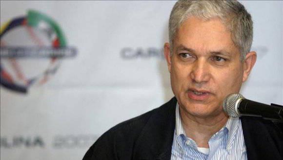El presidente de la Confederación de Béisbol del Caribe, Juan Francisco Puello. Foto: AFP