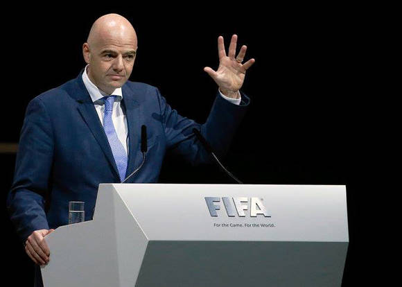 Gianni Infantino. Foto: Reuters.