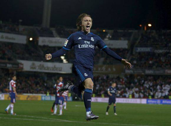 real madrid contra granada Luka Modric