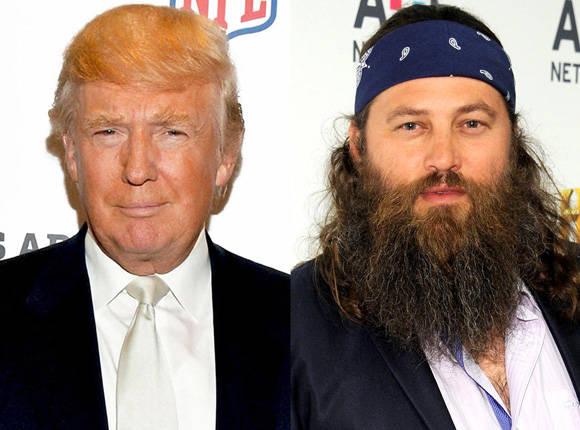 Willie Robertson, figura conocida en la TV de EE.UU. apoya a Donald Trump.